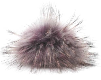 Raccoon Pom-Pom w/ Snap 510 Eggplant w/ Grey Black