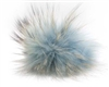 Raccoon Pom-Pom w/ Snap 605 Light Blue