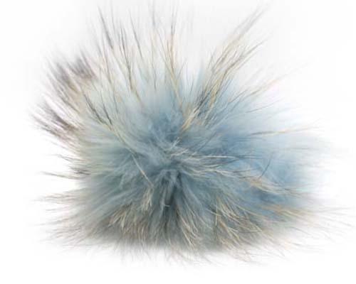 17644dd92 Raccoon Pom-Pom w/ Snap 605 Light Blue