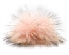 Raccoon Pom-Pom w/ Snap 607 Pink Powder