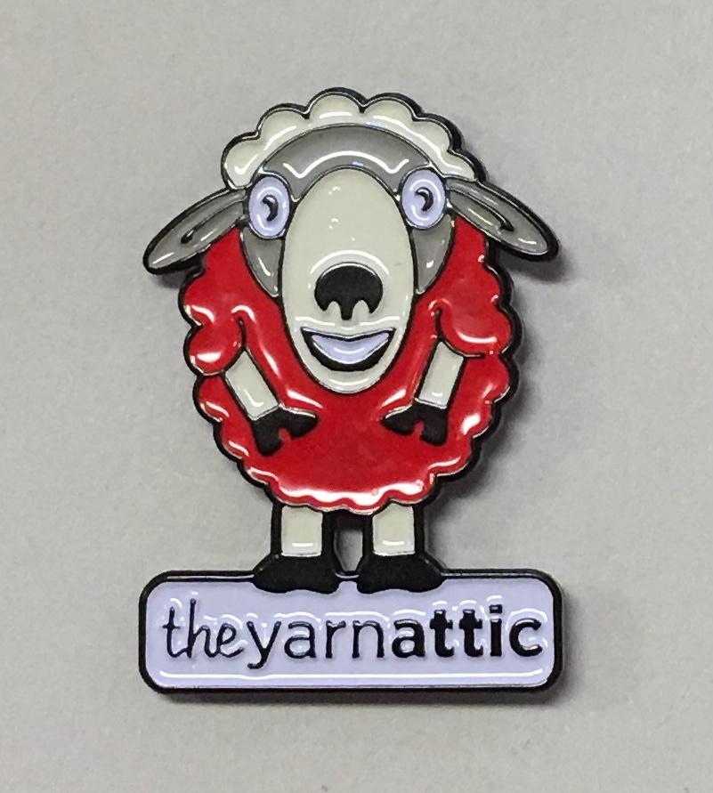 & Enamel Pin: The Yarn Attic
