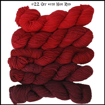 Mad Hatter Mini Skein Packs 22 Off With Her Red