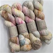 lot 904 Boudoir Smart Luxe MCN Fingering Tonal Kettle Dyed Sock Yarn Hand Dyed Sock Yarn Semisolid SW Merino Cashmere Nylon