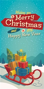 Holiday Stock Street Pole Banner BPHO02