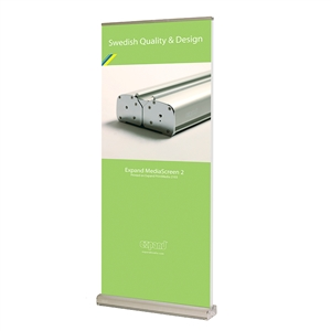 MediaScreen 39in Double-sided Retractable Banner Stand with 86in Graphic