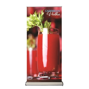Two-Sided Banner Stand with Vinyl Graphics