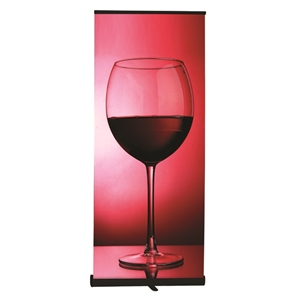 Premium retractable banner stand and vinyl graphic