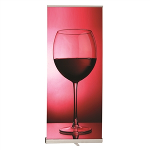 Retractable Silver Stand with Fabric Graphic