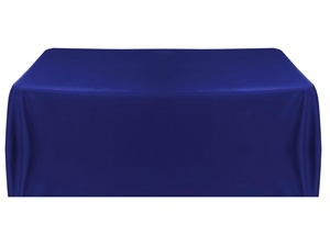 6' Economy Table Throw (4 Sided) - Navyl Blue