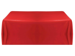 6' Economy Table Throw (4 Sided) - Red