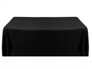 8ft (4 sided) table throw cover black