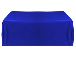 8ft (4 sided) table throw cover in royal blue