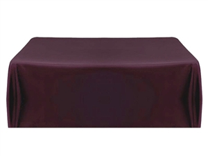 8ft (4 sided) table throw cover in eggplant