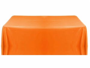 8ft (4 sided) table throw cover in orange