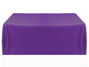 8ft (4 sided) table throw cover in purple