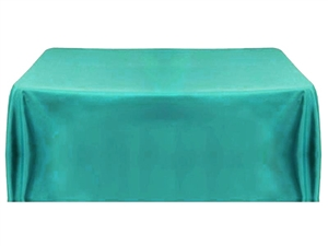 8ft (4 sided) table throw cover turquoise