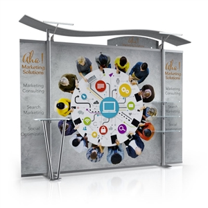 Timberline hybrid modular trade show display with straight sides