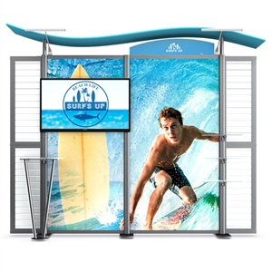 Timberline Display w/wave top & straight sides