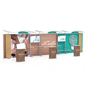 30ft timberline trade show display kit with slat walls TLKIT4