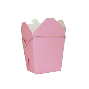 Bubblegum Pink Colored Chinese Takeout Boxes in 3 great sizes perfect for favors.