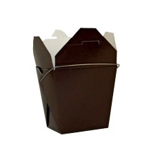 Chocolate Brown Colored Chinese Takeout Boxes in 3 great sizes perfect for favors.