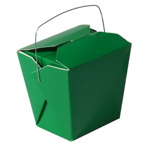 Green Colored Chinese Takeout Boxes in 3 great sizes perfect for favors.