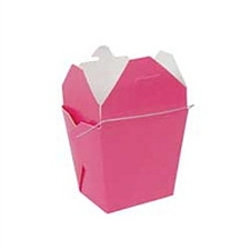 Hot Pink Colored Chinese Takeout Boxes in 3 great sizes perfect for favors.