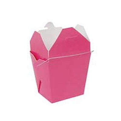 Hot Pink Chinese TakeOut Boxes Fortune Cookie Wedding Favors