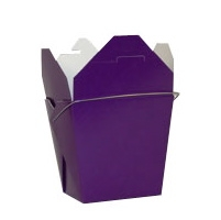Purple Colored Chinese Takeout Boxes in 3 great sizes perfect for favors.