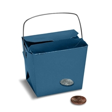 Royal Blue Colored Chinese Takeout Boxes in 3 great sizes perfect for favors.
