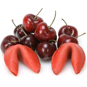 Gourmet fortune cookies in amazing cherry flavor - Personalized with your own fortune cookie messages inside.