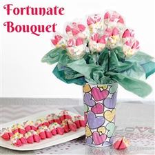 This Mother's day let mom know how fortunate you are to have her by sending a cute fortune cookie bouquet!