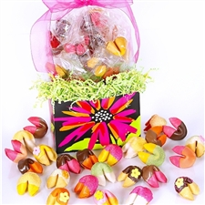 This delightful gift box of colored fortune cookies is perfect for mom! A bit of drama mixed with a whole lot of delight.