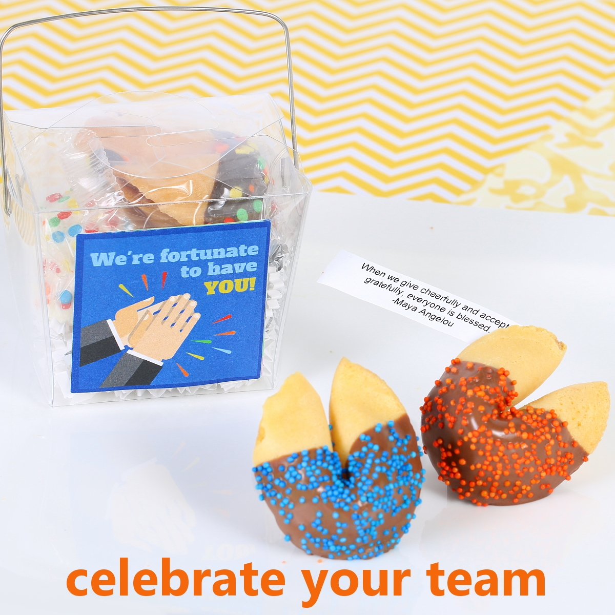 one of a kind packaging Fortune Cookies with Inspirational Messages small box