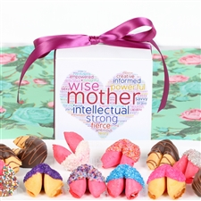 This delightful gift box of colored fortune cookies is perfect for wishing Mom a Happy Mother's Day.