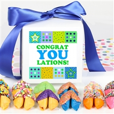 This delightful gift box of colored fortune cookies is perfect for just about anyone.