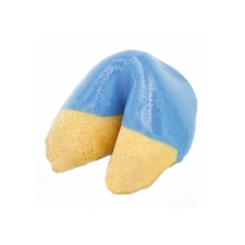 Blue Colored Chocolate Covered Fortune Cookies!