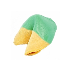 Green Colored Chocolate Covered Fortune Cookies!