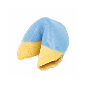 Medium Blue Colored Chocolate Covered Fortune Cookies!
