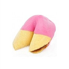 Medium Pink Colored Chocolate Covered Fortune Cookies!