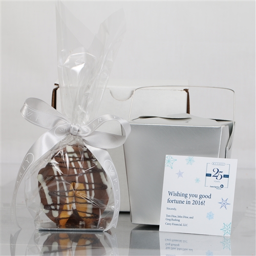 Classic Vanilla Junior Giant Fortune Cookie is sure to get your clients attention.