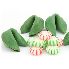 Mint flavored fortune cookies freshen your breath and bring the sweet flavor of the holiday spirit any time of year. Gourmet fortune cookies come with your custom sayings inside and individually wrapped.