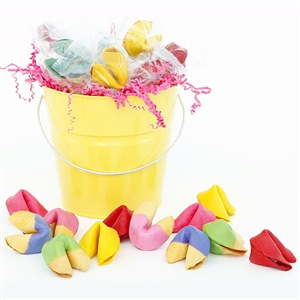 This sunny basket of colored fortune cookies is perfect for all Moms.