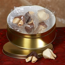 Chocolate covered fortune cookies in coconut flavor - Unique edible gift