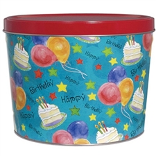 Happy Birthday gift tin filled with gourmet fortune cookies! Over 65 flavored fortune cookies in each tin.