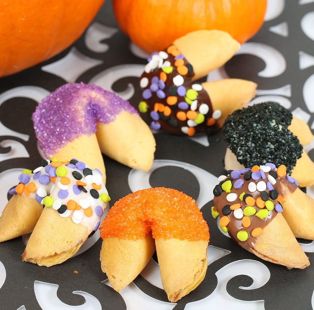 each cookie comes with classic halloween fortunes and sprinkles view larger photo