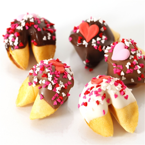 celebrate valentines day with classic vanilla fortune cookies
