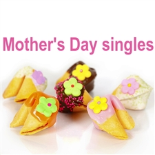 Adorable Mother's Day fortune cookies decorated with flowers, and springy colored chocolates and candies!