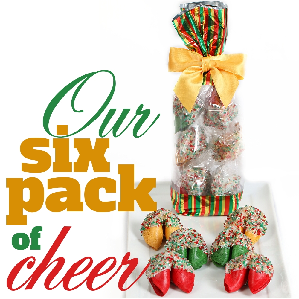 Six Pack of Cheer Fortune Cookies | Chocolate Covered Fortune ...
