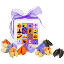 An assortment of spooktacular treats, fruit punch, black raspberry and orange fortune cookies are a ghostly delight.